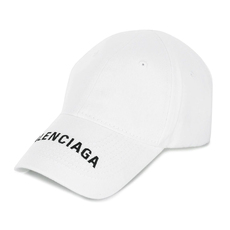 Balenciaga Classic Baseball Embroidered Logo Caps White