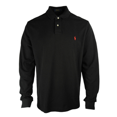 Ralph Lauren Long Sleeve Polo Tee Black
