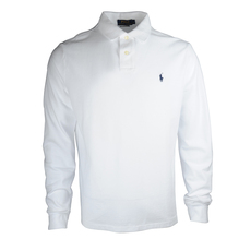 Ralph Lauren Long Sleeve Polo Tee White