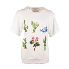 Stella Mccartney Embroidered Plants T-Shirt White