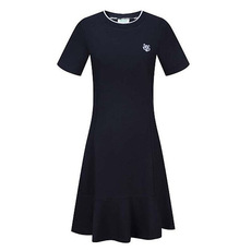 Kenzo Embroidery Tiger Crew Neck Dress Black