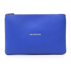 "Balenciaga Logo Print ""Everyday"" Clutch Bag Blue"
