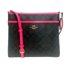 Coach Crossbody Bag Dark Brown/Fuchsia