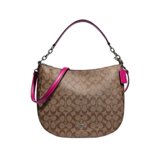 Coach Crossbody Bag Brown/Fuchsia