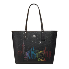Coach Reversible Tote Bag Black