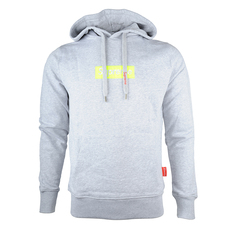 Supreme Spain Yellow Fluo Embroidered Boxlogo Hoddie Grey