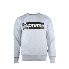 Supreme Spain Crewneck Boxlogo Sweatshirt Grey