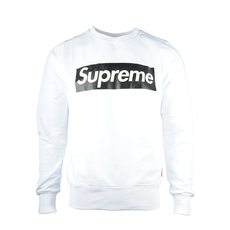 Supreme Spain Crewneck Boxlogo Sweatshirt White