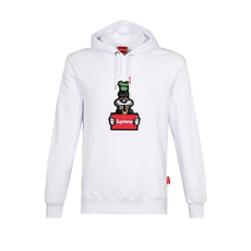 Supreme Spain Wanted Goofy Embroidery Hoodie White
