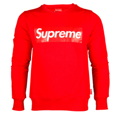 Supreme Spain Red Printed Boxlogo Sweatshirt Red