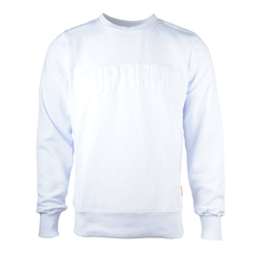 Supreme Spain 3D Logo Sweatshirt White
