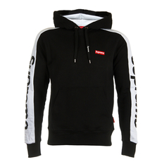 Supreme Spain Embroidered Small Boxlogo Hoodie Black/White