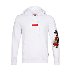 Supreme Spain Panther 'N 'Roses Embroidered Hoodie White