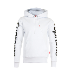 Supreme Spain Sleeves Logo Hoodie White