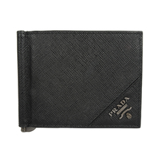 Prada Saffiano Leather Bi-Fold Wallet Black