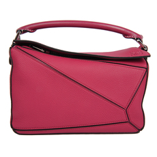 Loewe Puzzle Small Shoulder Bag Raspberry