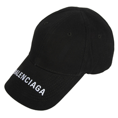 Balenciaga Classic Baseball Embroidered Logo Cap Black