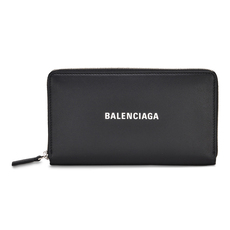 Balenciaga Everyday Zip Around Wallet Black