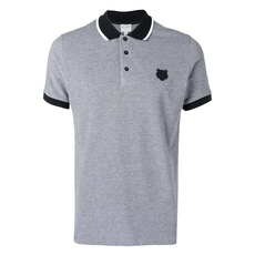 Kenzo Fitted Tiger Polo Tee Grey