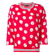 Love Moschino Red Ball Print Top Red
