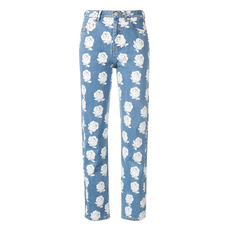 Kenzo High-Waisted Floral Jeans Blue/White