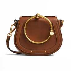 Chloé Small Nile Bracelet Shoulder Bag Caramel
