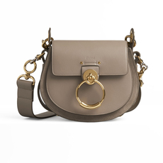 Chloé Small Tess Shoulder Bag Motty Grey