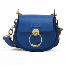 Chloe Small Tess Shoulder Bag Smoky Blue