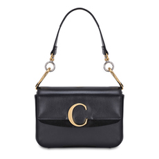 "Chloe Small""C"" Double Shoulder Bag Black"
