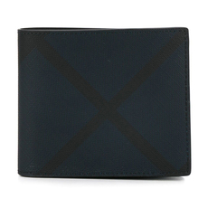 Burberry London Check Bi-Fold Wallet Navy/Black