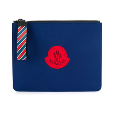 Moncler Logo Patch Clutch Blue