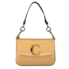 "Chloe Small ""C"" Double Shoulder Bag Bleached Brown"