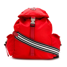 Moncler Foldover Top Backpack Rosso
