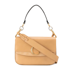 "Chloe Medium ""C"" Double Shoulder Bag Bleached Brown"