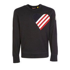 "Moncler Genius 1952 ""Heart"" Patch Sweatshirt Dark Blue"