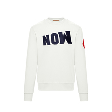 "Moncler Genius 1952 ""Now"" Patch Sweatshirt White"