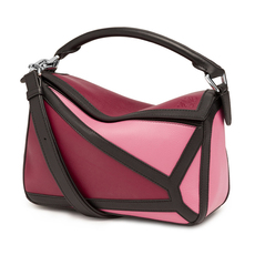 Loewe Puzzle Graphic Small Shoulder Bag Red,Pink