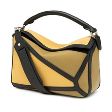 Loewe Puzzle Graphic Shoulder Bag Yellow