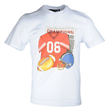 Love Moschino Rugby Gear Print T-Shirt White