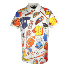 Love Moschino Sports Kit Polo Tee Multicolor