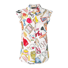 Love Moschino Beauty Objects Top Multicolor