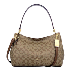 Coach MIA Shoulder Bag Khaki/Saddle
