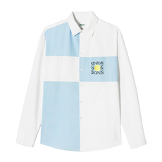 Kenzo Square Logo Casual Shirt White/Blue