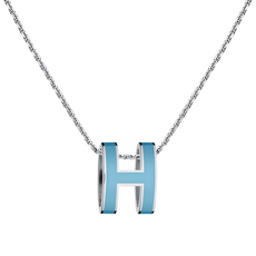 Hermès Pop H Necklace Bleu Pastel