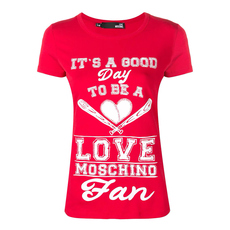 "Love Moschino ""It'S A Good Day"" T-Shirt Red"