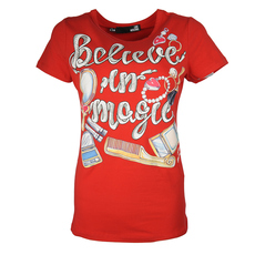Love Moschino Believe In Magic Print T-Shirt Red