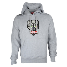 Supreme Spain Wolf Embroidery Hoodie Grey
