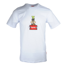 Supreme Spain Wanted Goofy Embroidery T-Shirt White
