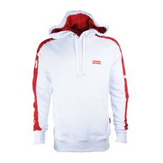 Supreme Spain Embroidered Small Boxlogo Hoodie White/Red