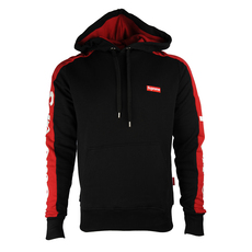 Supreme Spain Embroidered Small Boxlogo Hoodie Black/Red